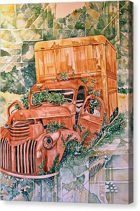 Old Truck Canvas Print by Lance Wurst