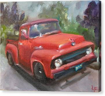 Old Truck Canvas Print by Lindsay Frost