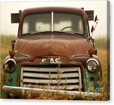 Canvas Print featuring the photograph Old Truck by Steven Reed
