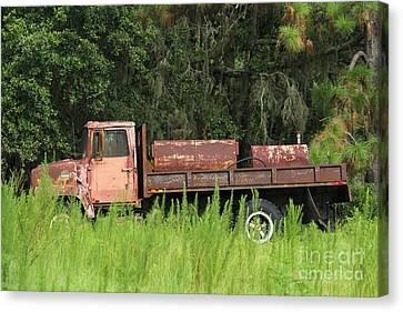Old Truck Canvas Print by Theresa Willingham