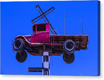 Truck Canvas Print - Old Truck With Cross by Garry Gay