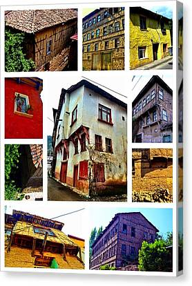 Canvas Print featuring the photograph Old Turkish Houses by Zafer Gurel
