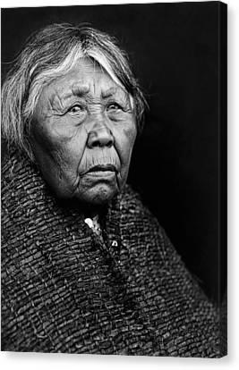 Old Twana Woman Circa 1913 Canvas Print