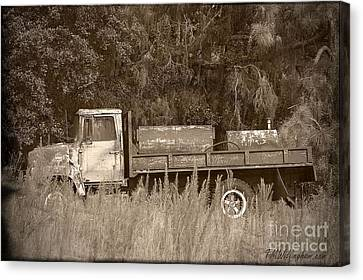 Old Tyme Truck Canvas Print by Theresa Willingham