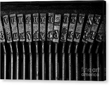 Old Typewriter Keys Canvas Print