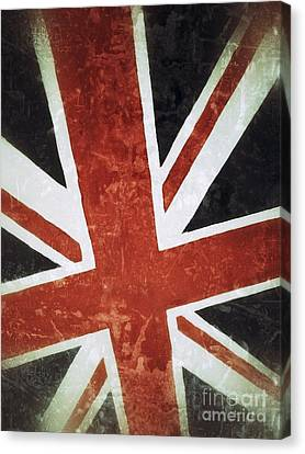 Patriotism Canvas Print - Old Uk Flag by Carlos Caetano