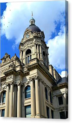 Old Vanderburgh County Courthouse Canvas Print by Deena Stoddard