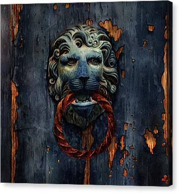 Old Venetian Door Knocker  Canvas Print by Olga Belyaeva