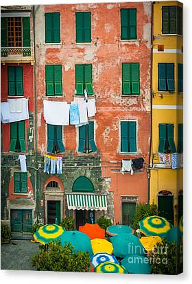 Vernazza Canvas Print - Old Vernazza by Inge Johnsson