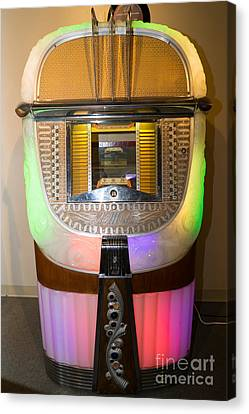 Old Vintage Ami Jukebox Dsc2775 Canvas Print by Wingsdomain Art and Photography