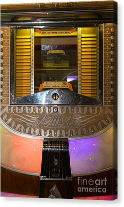 Old Vintage Ami Jukebox Dsc2776 Canvas Print by Wingsdomain Art and Photography