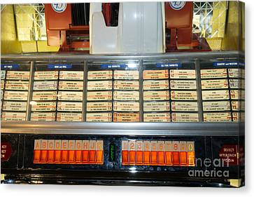 Old Vintage Jukebox Dsc2758 Canvas Print by Wingsdomain Art and Photography