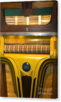 Old Vintage Mills Empress Jukebox Dsc2790 Canvas Print by Wingsdomain Art and Photography