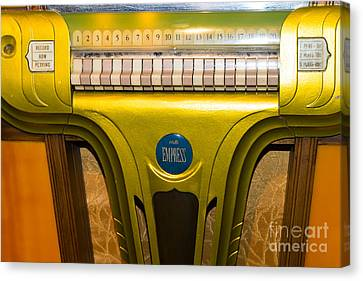 Old Vintage Mills Empress Jukebox Dsc2791 Canvas Print by Wingsdomain Art and Photography