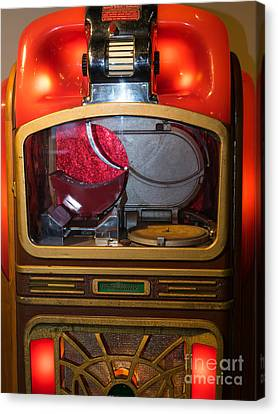 Old Vintage Packard Pla-mor Jukebox Dsc2771 Canvas Print by Wingsdomain Art and Photography