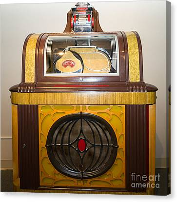 Old Vintage Packard Pla-mor Jukebox Dsc2798 Canvas Print by Wingsdomain Art and Photography