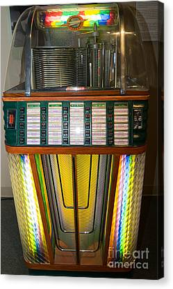 Old Vintage Rock Ola Jukebox Dsc2755 Canvas Print by Wingsdomain Art and Photography