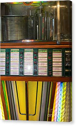 Old Vintage Rock Ola Jukebox Dsc2756 Canvas Print by Wingsdomain Art and Photography