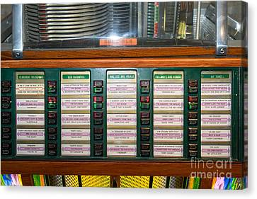 Old Vintage Rock Ola Jukebox Dsc2757 Canvas Print by Wingsdomain Art and Photography