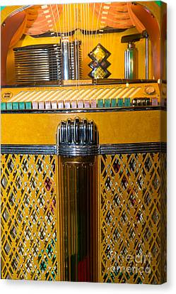Old Vintage Rock Ola Jukebox Dsc2784 Canvas Print by Wingsdomain Art and Photography