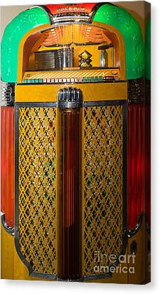 Old Vintage Rock Ola Jukebox Dsc2785 Canvas Print by Wingsdomain Art and Photography