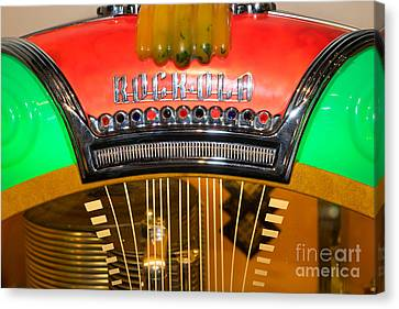 Old Vintage Rock Ola Jukebox Dsc2787 Canvas Print by Wingsdomain Art and Photography