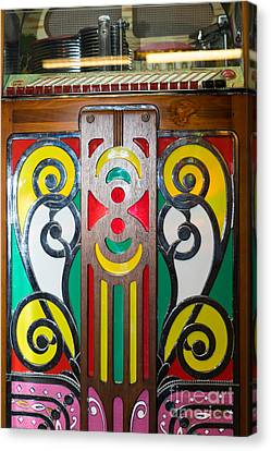 Old Vintage Rock Ola Jukebox Dsc2793 Canvas Print by Wingsdomain Art and Photography