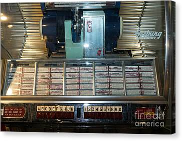 Old Vintage Seeburg Jukebox Dsc2752 Canvas Print by Wingsdomain Art and Photography
