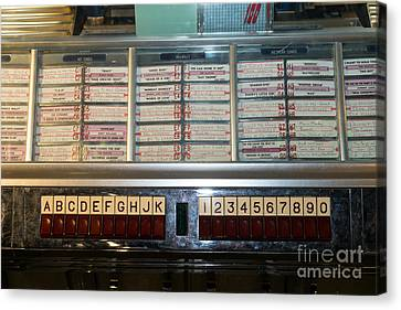 Old Vintage Seeburg Jukebox Dsc2753 Canvas Print by Wingsdomain Art and Photography