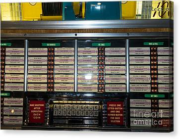 Old Vintage Seeburg Jukebox Dsc2761 Canvas Print by Wingsdomain Art and Photography