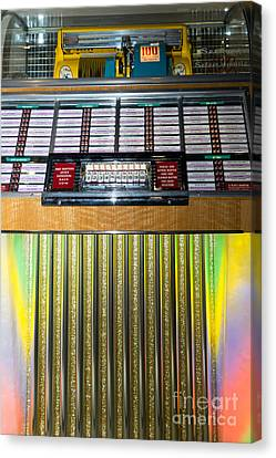 Old Vintage Seeburg Jukebox Dsc2763 Canvas Print by Wingsdomain Art and Photography