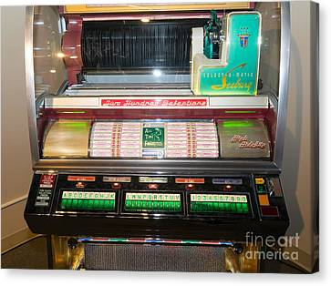 Old Vintage Seeburg Jukebox Dsc2764 Canvas Print by Wingsdomain Art and Photography