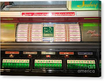 Old Vintage Seeburg Jukebox Dsc2765 Canvas Print by Wingsdomain Art and Photography