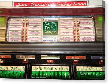 Old Vintage Seeburg Jukebox Dsc2766 Canvas Print by Wingsdomain Art and Photography