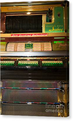 Old Vintage Seeburg Jukebox Dsc2768 Canvas Print by Wingsdomain Art and Photography