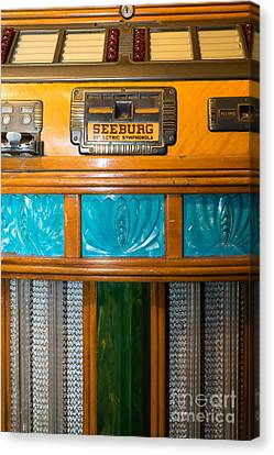 Old Vintage Seeburg Jukebox Dsc2801 Canvas Print by Wingsdomain Art and Photography