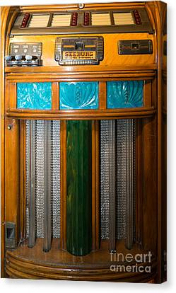 Old Vintage Seeburg Jukebox Dsc2802 Canvas Print by Wingsdomain Art and Photography