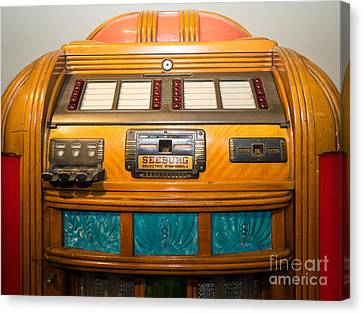 Old Vintage Seeburg Jukebox Dsc2804 Canvas Print by Wingsdomain Art and Photography