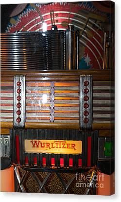 Old Vintage Wurlitzer Jukebox Dsc2705 Canvas Print by Wingsdomain Art and Photography