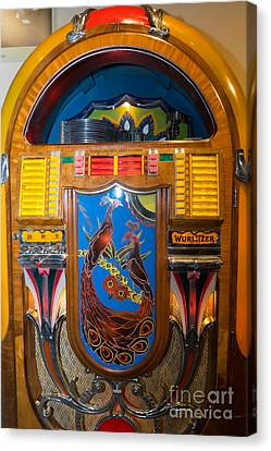 Old Vintage Wurlitzer Jukebox Dsc2778 Canvas Print by Wingsdomain Art and Photography