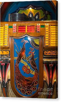 Old Vintage Wurlitzer Jukebox Dsc2779 Canvas Print by Wingsdomain Art and Photography
