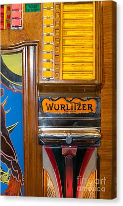 Old Vintage Wurlitzer Jukebox Dsc2780 Canvas Print by Wingsdomain Art and Photography