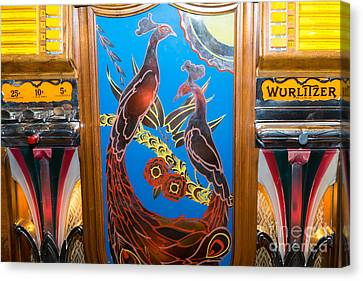 Old Vintage Wurlitzer Jukebox Dsc2781 Canvas Print by Wingsdomain Art and Photography