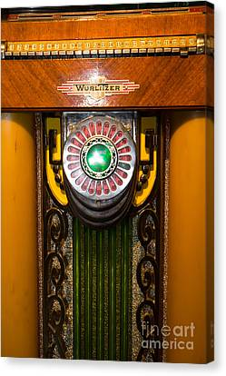 Old Vintage Wurlitzer Jukebox Dsc2806 Canvas Print by Wingsdomain Art and Photography