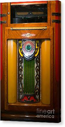 Old Vintage Wurlitzer Jukebox Dsc2807 Canvas Print by Wingsdomain Art and Photography