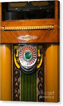 Old Vintage Wurlitzer Jukebox Dsc2808 Canvas Print by Wingsdomain Art and Photography