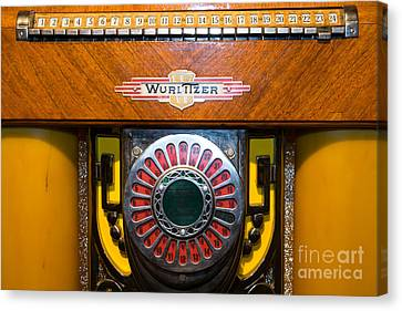 Old Vintage Wurlitzer Jukebox Dsc2809 Canvas Print by Wingsdomain Art and Photography