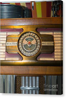 Old Vintage Wurlitzer Jukebox Dsc2811 Canvas Print by Wingsdomain Art and Photography