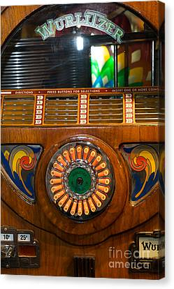 Old Vintage Wurlitzer Jukebox Dsc2823 Canvas Print by Wingsdomain Art and Photography