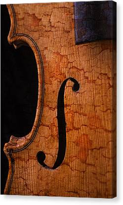 Old Violin Close Up Canvas Print